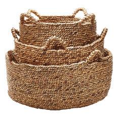 ELK Group International - Dimond Home Natural Low Rise Baskets, Set of 3 - Baskets