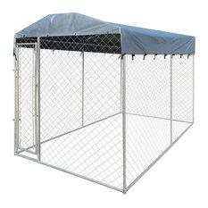 VidaXL Heavy Duty Outdoor Dog Kennel With Canopy Top, 200x400x235 cm