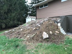 Weed barrier for steep slope