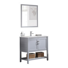 "Blossom Lucca 36"" Vanity Set, Metal Gray"