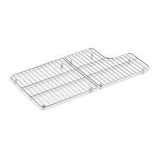 """Kohler Stainless Steel Sink Racks For 36"""" Whitehaven, Stainless Steel"""