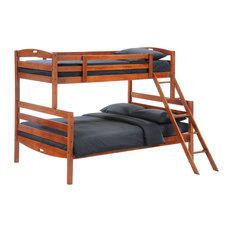 NIGHT AND DAY FURNITURE - Night and Day Zest Sesame Twin / Full Bunk Bed - No Drawers or Trundle - Bunk Beds