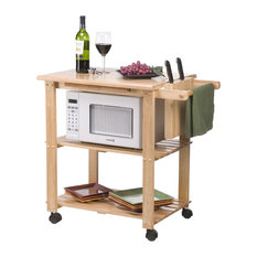 Pull out table kitchen islands carts houzz fastfurnishings solid wood kitchen utility microwave cart with pull out cutting board kitchen watchthetrailerfo