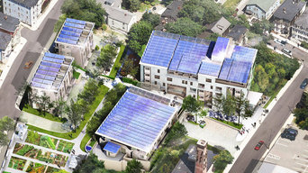 Aerial View of Green Sustainable Development