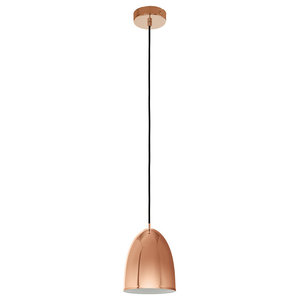 Eglo Coretto Dome Pendant Ceiling Light, Copper