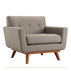 Engage Upholstered Fabric Armchair, Granite