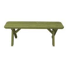4' Cross Leg Picnic Bench, Linden Leaf