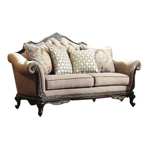 Acme Chantelle Loveseat With 3 Pillows Victorian