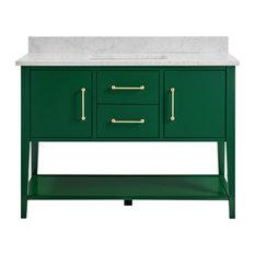 """Bergen Emerald Green Bathroom Vanity, 48"""""""