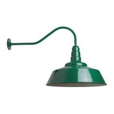 Outdoor Barn Lighting , The Redondo Farmhouse Light, Green