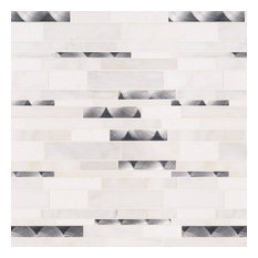 Moderno Blanco Interlocking 8Mm, Misc, Mosaic,