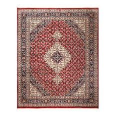 Burgundy Ivory Color Persian Rug, 9'x12'
