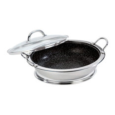 Professional Serving Pan With Glass Lid, Trivet and Microfibre Cloth, 30 cm