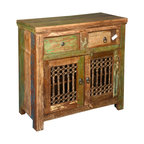 Reclaimed Wood Rustic Shutter Doors Storage Cabinet Sideboard - Buffets And Sideboards - by ...