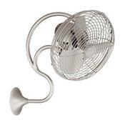 Melody Oscillating Wall Fan, Brushed Nickel