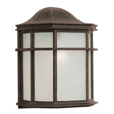 Forte 1 Light Cast Aluminum Outdoor Wall Lantern in Painted Rust