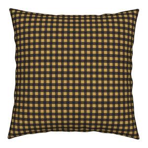 Plaid Checkered Checks Gingham Mustard And Throw Pillow Velvet