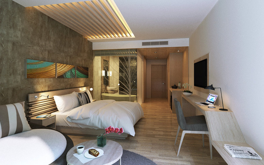 Mai House Hotel-Typical room