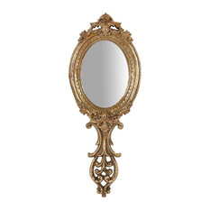Antique Gold Accent Wall Mirror, 10x25 cm