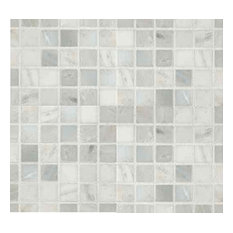 "Arabescato Carrara 1"" x 1"" Honed Marble Mosaic in 12"" x 12"" Sheet - 4""x4"" Sample"