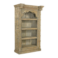 Farley Collection - Carved Bookcase Antique Gray