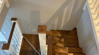 Walnut stair case