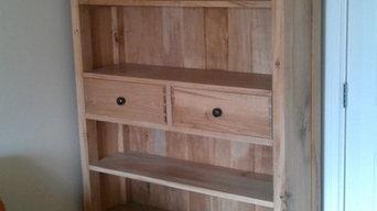 Bespoke oak bookcases
