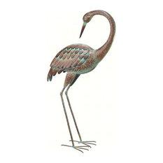 Regal Standing Art, Large, Crane Preening