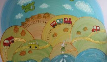 Стена в детском центре - сквозь время