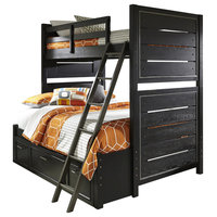 Graphite Bunk Bed With Full Extension, Twin-Over-Full