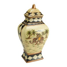 Elephant Vase With Lid