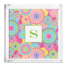 Petite Lucite Tray Kyoto Single Initial, Letter A
