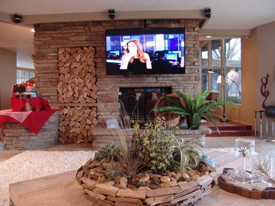 Midcentury Living Room Television Installation