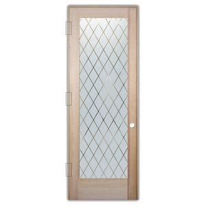 Interior Glass Door Sans Soucie Art Glass Diamond Grid