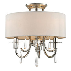 Crystorama Cody 3-Light Crystal Polished Nickel Mini Chandelier