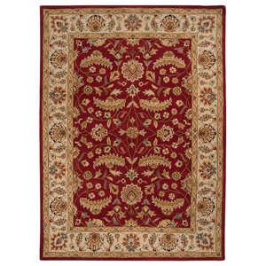 Surya CAE-1022 Caesar Classic Traditional Rectangle Burgundy 9'x12' Area Rug