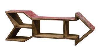 Wooden Arrow Shelf, Red
