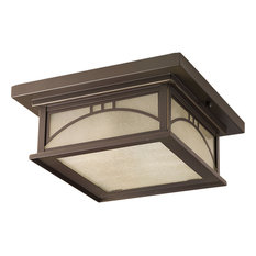 Progress Lighting Two-75W Outdoor Close-To-Ceiling , Antique Bronze
