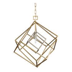 Blair Modern Silver Pendant Light Fixture, Gold