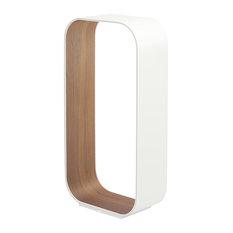 Pablo Designs Contour Table Lamp, White-Walnut/Large