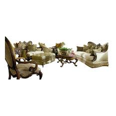 Aico Michael Amini Chateau Beauvais 4 Piece Living Room Set Living Room