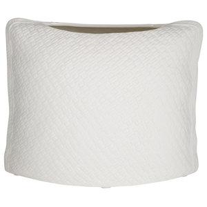 White Bag Vase, Small