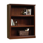 Sauder Select 3-Shelf Bookcase in Jamocha Wood, Select Cherry