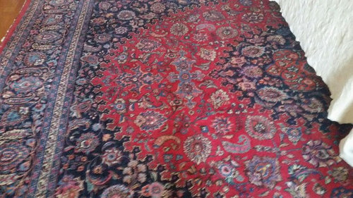 bad pictures of an old Persian rug