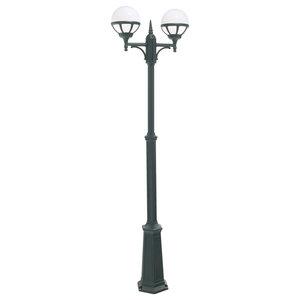 Twin Outdoor Lamp Post, Black Opal Lens