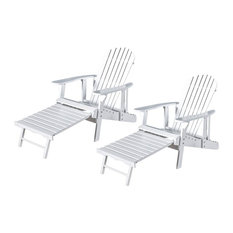 Outdoor Adirondack Chair in White - Set of 2