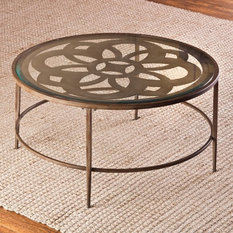 Hillsdale Furniture - Hillsdale Marsala Round Coffee Table, Glass - Coffee Tables
