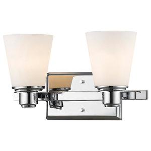 Kayla 2 Light Vanity, Chrome