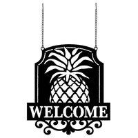 Welcome Pineapple Metal Garden Flag