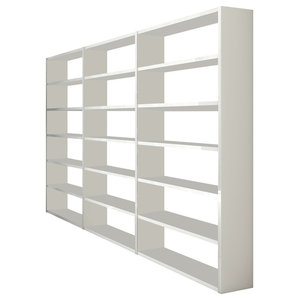 Torero Triple Bookcase, White Gloss